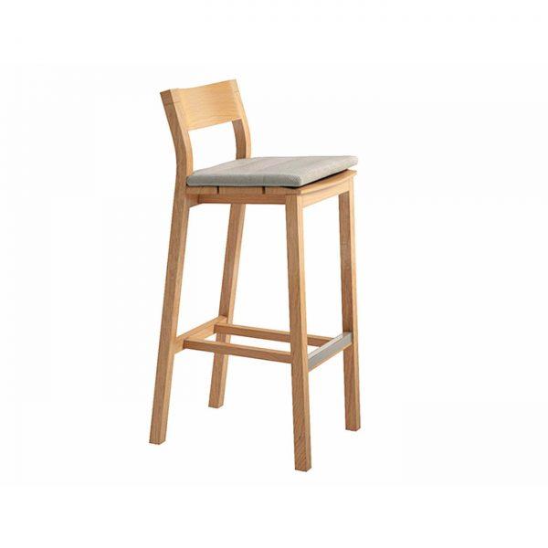 amandari barová stolička kos, stolička tribu, exteriérová barová stolička, záhradná barová stolička, outdoorová barová stolička, teaková stolička, drevená barové stolička, barová stolička s opierkou bez podrúčok, dizajnová barová stolička