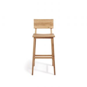 amandari barová stolička n4 dub , barová stolička ethnicraft, dubová stolička, drevená barová stolička, barová stolička s opierkou, dizajnová barová stolička