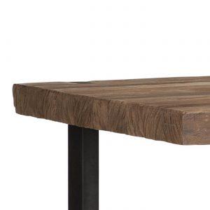 amandari konferenčný stolík beam, obdĺžnikový drevený stolík, konferenčný stolík, teakový konferenčný stolík, masívny drevený konferenčný stolík, stolík s masívnou drevenou doskou, drevený stolík so železnými nohami, stôl z recyklovaného teaku, nábytok s príbehom, moderný teakový stolík