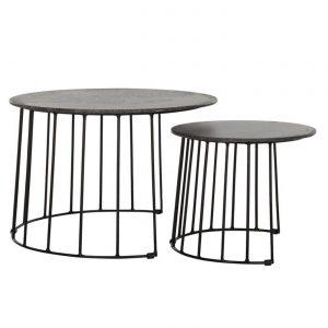 amandari konferenčný stolík kilimanjaro, set okrúhlych príručných stolíkov s betónovým vzhľadom, konferenčné stolíky, konferenčný stolík s kovovou podnožou, nadčasový stolík, set stolíkov so zasúvaním