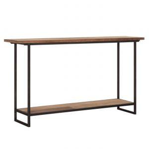 amandari konzolový stolík odeon, konzola, úzky stolík do predsiene, stolík do predsiene, obdĺžnikový drevený stolík, urban konzola, industriálna konzola, teaková konzola, odkladací stolík, masívny drevený stolík, industriálny nábytok, polička do predsiene, stolík s masívnou drevenou doskou, drevený stolík so železnými nohami, stôl z recyklovaného teaku, nábytok s príbehom, moderný teakový stolík, úzka komoda s odkladacou poličkou