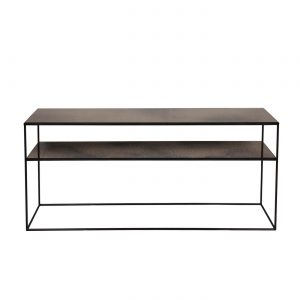 amandari konzolový stôl bronze copper sofa, konzola ethnicraft, konzola s efektom starých zrkadiel s poličkou, sklenená konzola, nadčasová konzola, úzka konzola, stolík do predsiene, úzka polička, odkladací stolík, stolík s kovovou podnožou, odkladací stolík, subtílny stolík, stolík k sedačke, stolík za sedačku, sklenený stolík tmavý bronzový