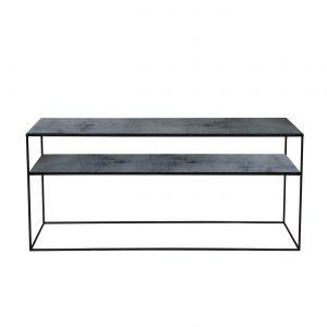 amandari konzolový stôl charcoal sofa, konzola ethnicraft, konzola s efektom starých zrkadiel s poličkou, sklenená konzola, nadčasová konzola, úzka konzola, stolík do predsiene, úzka polička, odkladací stolík, stolík s kovovou podnožou, subtílny stolík, stolík k sedačke, stolík za sedačku, sklenený stolík tmavý