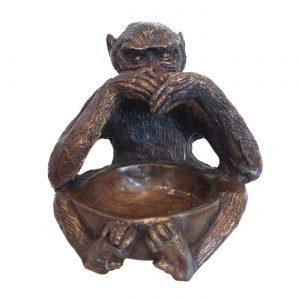dekorácia, soška, socha, mosadz, ázijský, orientálny, meditujúca, mačka, darček, tip na darček, unikátny, doplnok, dekorácia, východoázijský, patinovaný, tri múdre opice