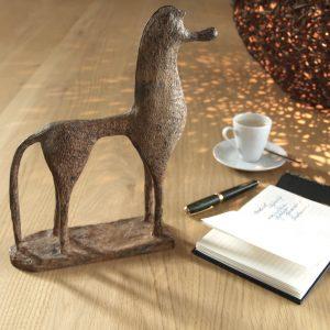 dekorácia, soška, socha, mosadz, ázijský, orientálny, ťažítko, darček, tip na darček, kôň, koník, darček pri milovníka koní, unikátny, doplnok, východoázijský, patinovaný