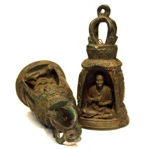 mosadzný, ázijský, orientálny, budhistický, darček, tip na darček, unikátny, doplnok, dekorácia, východoázijský, chrámový, patinovaný, zvon, kovový zvon, budha, sediaci budha