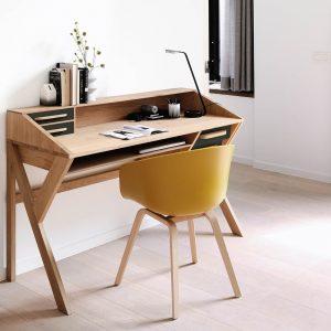 amandari pracovný stôl origami, drevený pracovný stôl, masívny dubový pracovný stôl, dubová dizajnový pracovný stôl, home office, písací stôl, dizajnový pracovný stôl s poličkou a zásuvkami, pracovný stôl, písací stôl, pracovňa, stôl do pracovne