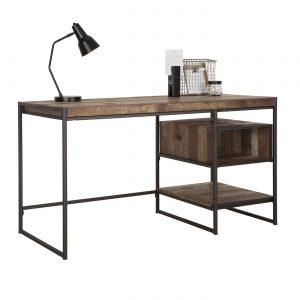 amandari pracovný stôl tuareg, drevený pracovný stôl, masívny pracovný stôl, teakový pracovný stôl, home office, písací stôl, teakový pracovný stôl s poličkami, recyklované drevo, pracovný stôl, písací stôl, pracovňa, stôl do pracovne