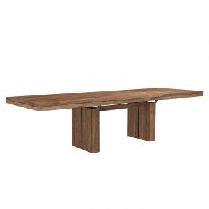 rozkladací teakový stôl, dizajnový rozkladací stôl, rozkladací masívny stôl, rozkladací drevený stôl, moderný rozkladací jedálenský stôl, stôl s rozkladaním, masívny rozkladací stôl, dizajnový rozkladací stôk, stôl ethnicraft, stôl amandari