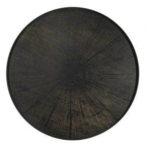 amandari tacka black slice ethnicraft, kávová tácka, dizajnové tácky, tácka, dekorácie, dekorácia, darček, tip na darček, unikátny darček, servírovanie, podnosy, štýlové servírovanie, tácka ako obraz, ručne vyrábané tácky, drevené tácky, okrúhle tácky, set tácok, nástenná dekorácia, tácka ako stolík