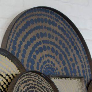 amandari tacka seaside beads ethnicraft, kávová tácka, dizajnové tácky, tácka, dekorácie, dekorácia, darček, tip na darček, unikátny darček, servírovanie, podnosy, štýlové servírovanie, tácka ako obraz, ručne vyrábané tácky, drevené tácky, okrúhle tácky, set tácok, nástenná dekorácia, tácka ako stolík